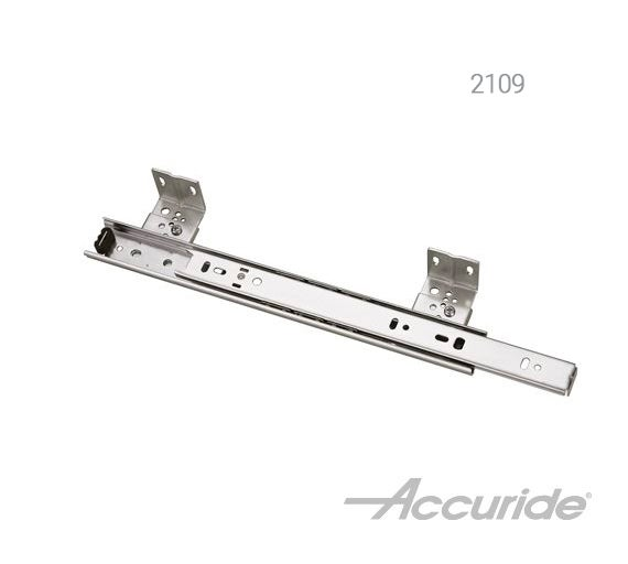 Light-Duty Slide with Lever-Disconnect for Suspended Mounting